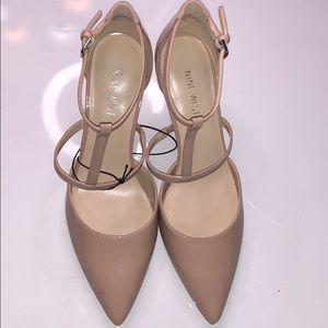 Nine West Marlo cream Women's Shoes size 9.5 New🌿